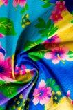 Textura, teste padrão Pano com testes padrões modelados de cores brilhantes Imagem de Stock Royalty Free