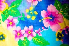 Textura, teste padrão Pano com testes padrões modelados de cores brilhantes Fotografia de Stock