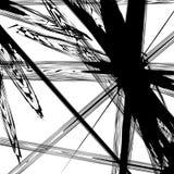 Textura/teste padrão preto e branco com formas caóticas aleatórias ilustração do vetor