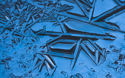A textura, testes padrões na lagoa congela na Noite de Natal Imagens de Stock Royalty Free