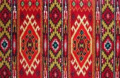 Textura tradicional de la materia textil Fotografía de archivo libre de regalías