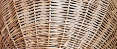 Textura trançada áspera da cesta da palha Imagem de Stock Royalty Free