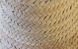 Textura trançada áspera do sombreiro da palha Fotos de Stock