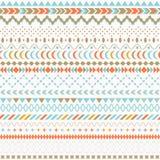 Textura tribal del vector inconsútil Textura inconsútil tribal Contexto inconsútil étnico del vintage Rayas de Boho Molestia raya stock de ilustración