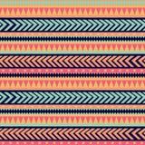 Textura tribal do vetor sem emenda Teste padrão tribal do vetor Teste padrão listrado étnico colorido Beiras geométricas Ornament ilustração stock