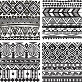 Textura tribal inconsútil stock de ilustración