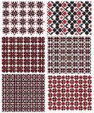Textura ucraniana del bordado Fotografía de archivo