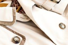 Textura - una capa de las mujeres blancas Fotografía de archivo