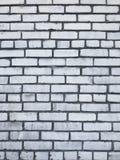 Textura urbana de la ciudad de la pared de ladrillo blanca sucia Fotos de archivo libres de regalías