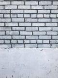 Textura urbana de la ciudad de la pared de ladrillo blanca sucia Fotografía de archivo