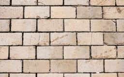 Textura urbana do fundo do tijolo amarelo imagens de stock royalty free