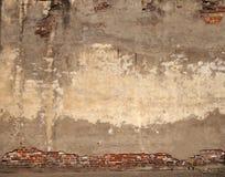 Textura urbana do fundo velho da parede de tijolo fotografia de stock