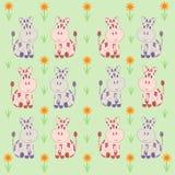 Textura Vacas e flores ilustração royalty free