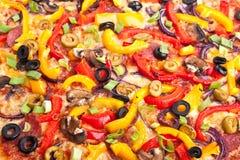 Textura vegetal de la pizza fotos de archivo
