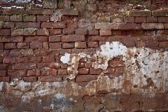 Textura velha áspera do grunge da parede de tijolo fotografia de stock