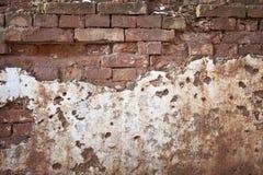 Textura velha áspera do grunge da parede de tijolo fotos de stock