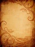 Textura velha com ornamento Imagens de Stock Royalty Free