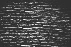 Textura velha da parede de tijolo da aflição foto de stock