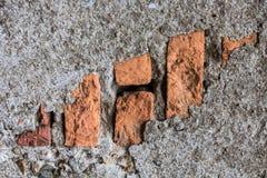Textura velha da parede de tijolo da foto Imagem de Stock Royalty Free