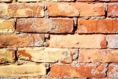 Textura velha da parede de tijolo do Grunge Fotografia de Stock Royalty Free