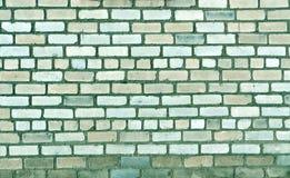 Textura velha da parede de tijolo no tom ciano fotografia de stock royalty free