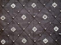 Textura velha da porta do metal Imagens de Stock