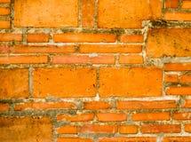 Textura velha detalhada do fundo da parede de tijolo vermelho imagem de stock royalty free