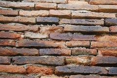 Textura velha detalhada do fundo da parede de tijolo vermelho fotos de stock
