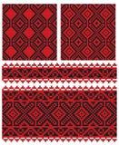 Textura velha do bordado ucraniano ilustração royalty free