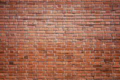 Textura velha do fundo da parede de tijolo vermelho Fotos de Stock Royalty Free