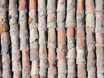 Textura velha do telhado de telha Fotografia de Stock