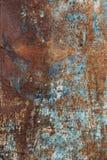 Textura velha oxidada do metal com corrosão e bpaint imagem de stock royalty free