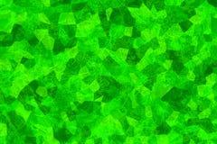 Textura verde agrietada Estructura cristalizada Superficie con los rasguños abstraiga el fondo Papel pintado del mosaico Fotografía de archivo libre de regalías
