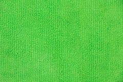 Textura verde clara del paño de la microfibra Imagenes de archivo