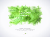 Textura verde da aquarela Fundo Hand-drawn Imagem de Stock Royalty Free