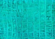 Textura verde da imitação do couro do réptil imagem de stock