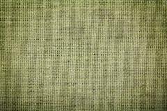 Textura verde da tela de algodão Imagens de Stock