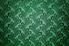Textura verde da tela do vintage Fotos de Stock