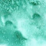 Textura verde de la acuarela de la turquesa Foto de archivo