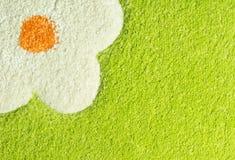 Textura verde de la alfombra Foto de archivo libre de regalías
