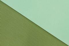 Textura verde de la estera de la yoga Foto de archivo