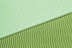 Textura verde de la estera de la yoga Fotos de archivo libres de regalías