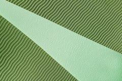 Textura verde de la estera de la yoga Imagen de archivo libre de regalías