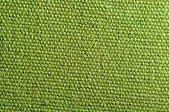 Textura verde de la tela Fotografía de archivo libre de regalías