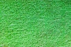 Textura verde de la toalla Foto de archivo