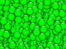 Textura verde de las burbujas Fotos de archivo libres de regalías
