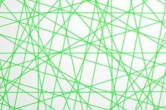 Textura verde de las líneas de cruce Imagen de archivo libre de regalías