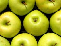 Textura verde de las manzanas Fotografía de archivo libre de regalías