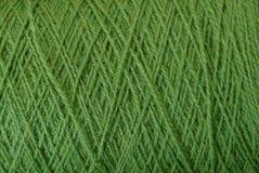 Textura verde de linhas de lã grossas Fotografia de Stock Royalty Free