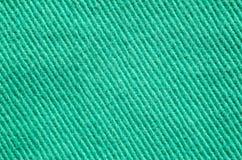 Textura verde de matéria têxtil da sarja de Nimes Imagem de Stock